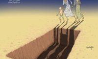 الفنان الكاريكاتيري رشاد السامعى يوجز ماوصل اليه الوضع الانسانى في اليمن