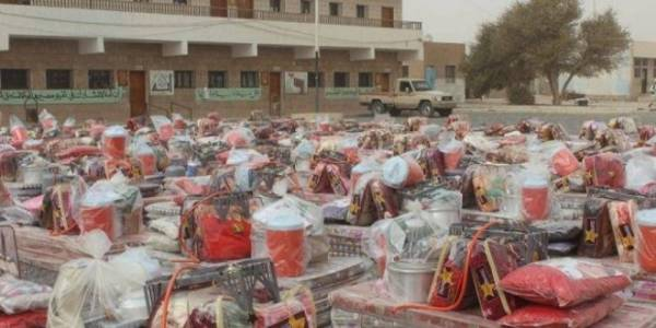 في هذة الاماكن تكدس جماعة الحوثي مواد الاغاثة